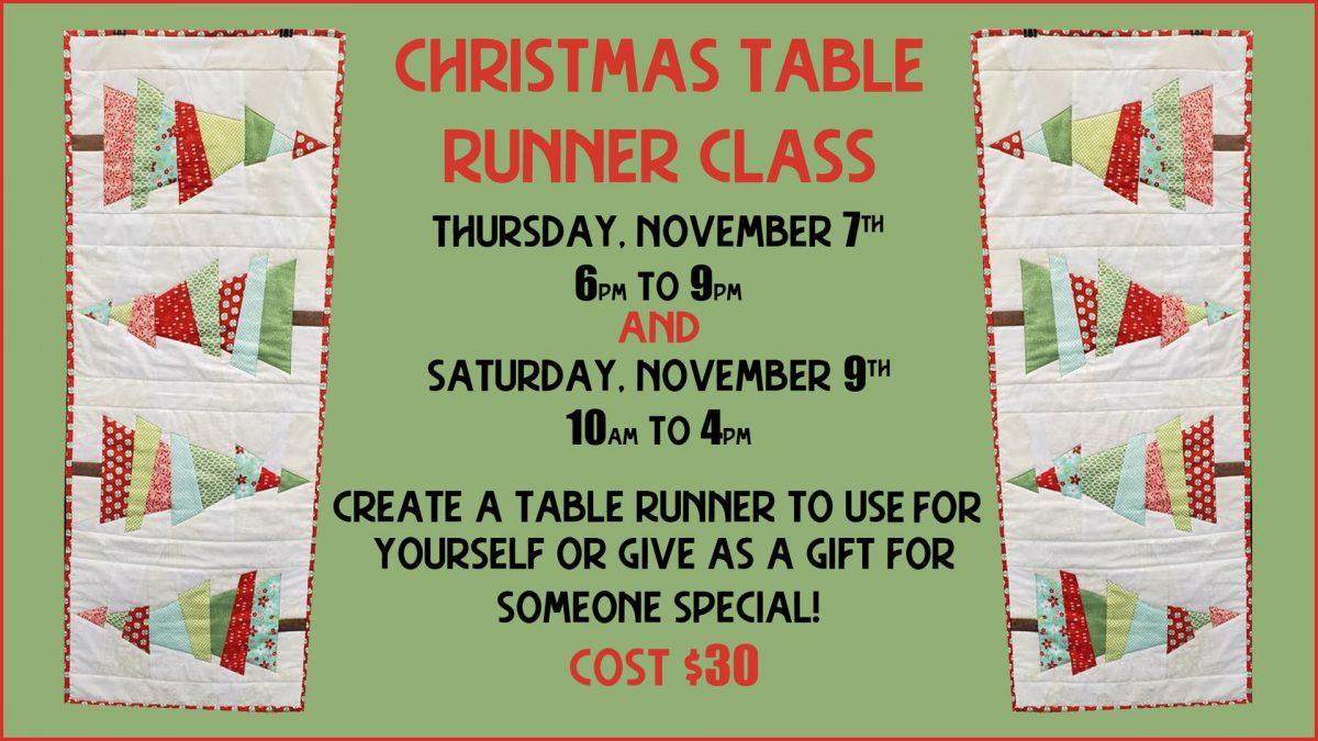 Crazy Christmas Tree Table Runner