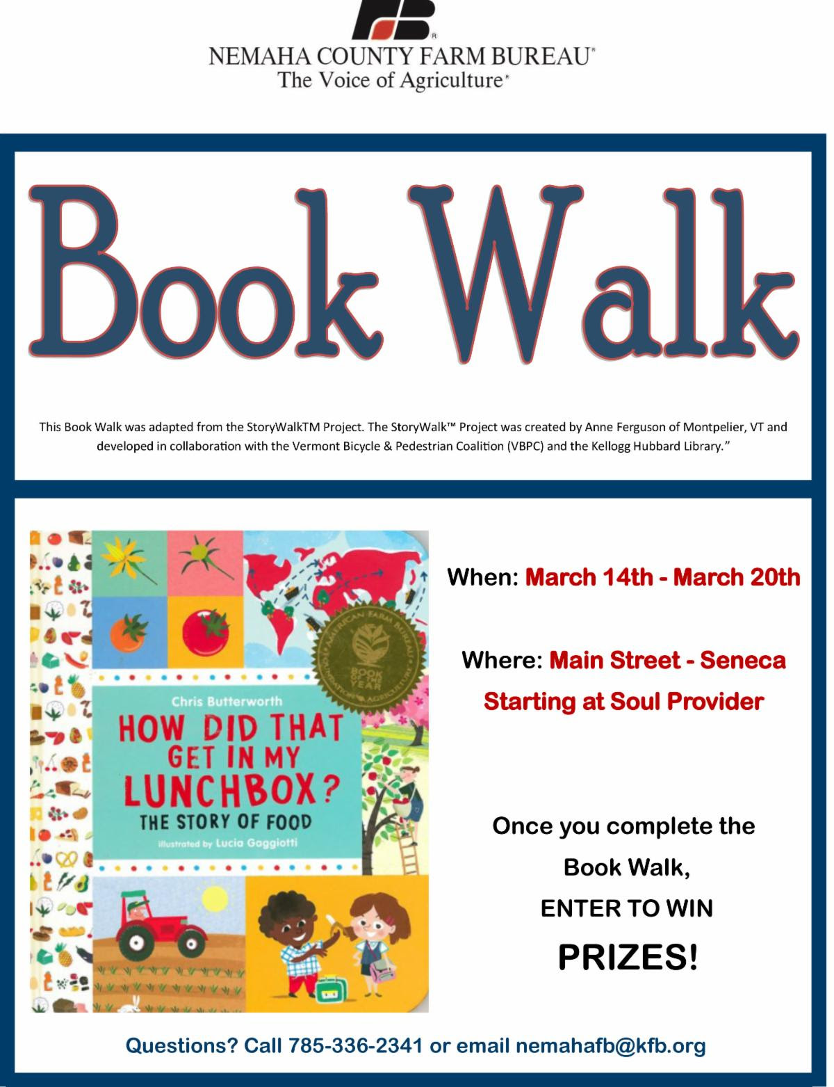 Spring Break Book Walk Organized